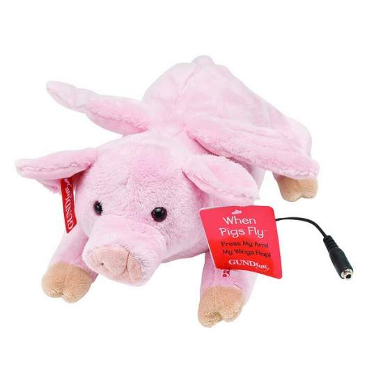 Flying Pig - Move the wings to press the switch