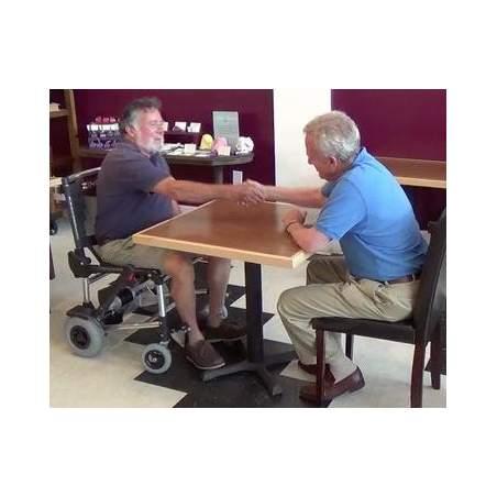 Zinger en fauteuil roulant