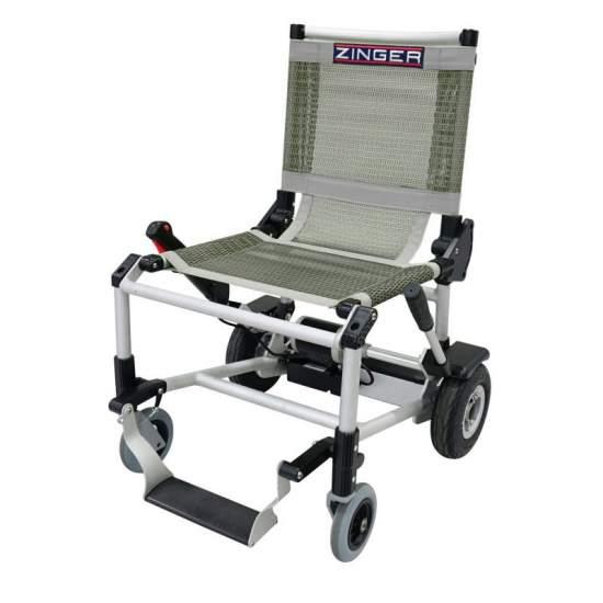 Silla electrónica Zinger - Silla de ruedas eléctrica Zinger color gris Una silla de ruedas eléctrica plegable y muy versátil