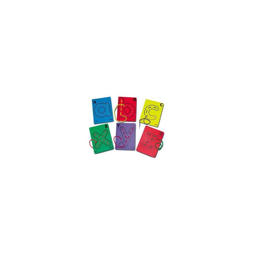 Todas las letras para hilar - 27 tarjetas de letras y 27 cordones