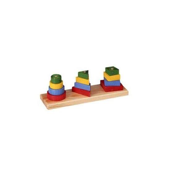 Stackable geometric figures 3 - Figures color stackable