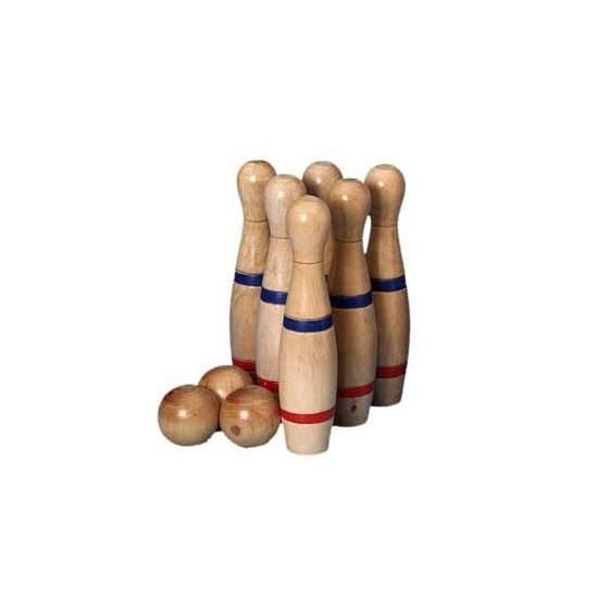 Juego de bolos grandes - Bolos de bolera madera de 24 cm