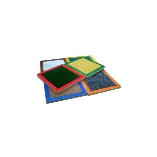 Circuito táctil - Cuadros con diferentes texturas