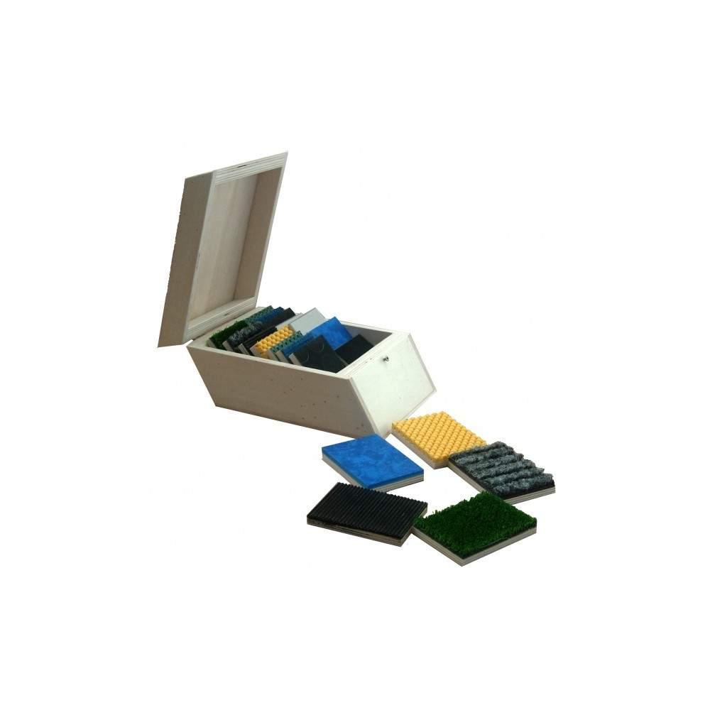 Caja de tacto - Cuadros de texturas para encontrar con los ojos cerrados