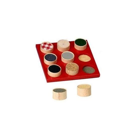 touch sorter - Board 18 x 18 cm with textures