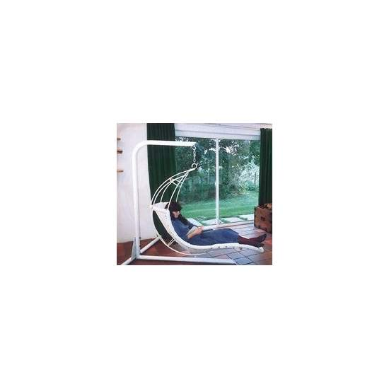 Hamaca hoja - Leaf chair con soporte - Hamaca tipo hoja con soporte de techo