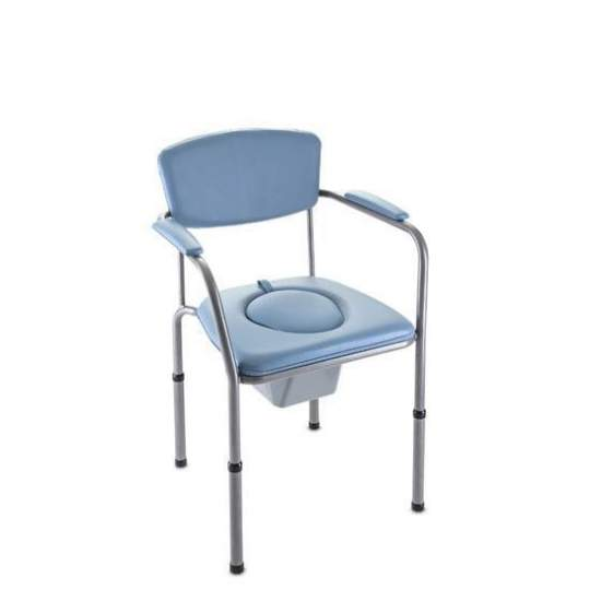 WC chair OMEGA H440 ECO - 5407 -  The WC chair Invacare Omega Eco is the ideal choice if you want to combine functionality, comfort and design. Its seat is adjustable in height from 405 to 585 mm, with very easy adjustment.