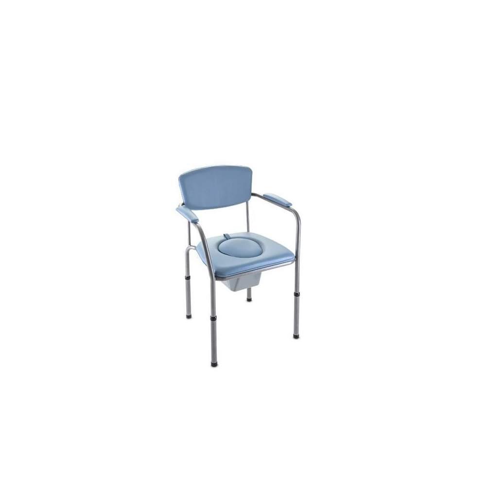 Silla de WC H440 OMEGA ECO - 5407 - La Silla de WC Invacare Omega Eco es la elección ideal si se desea combinar funcionalidad, comodidad y diseño. Su asiento es ajustable en altura de 405 a 585 mm, con ajuste muy...