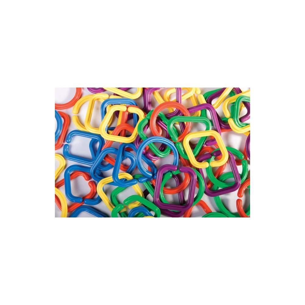 Anillas geométricas engarzables - Set de 60 anillas para crear cadenas
