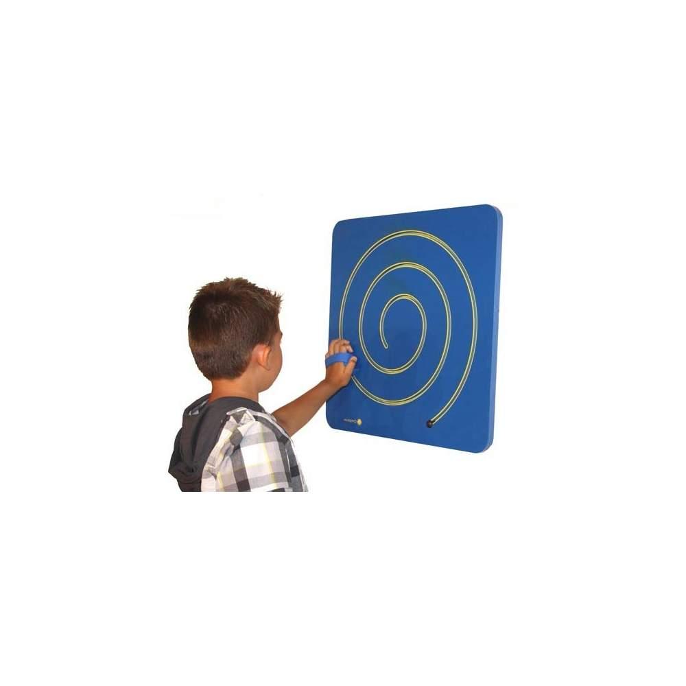 Espiral mano-pie - Panel espiral de motricidad para trabajar de pie o sentado