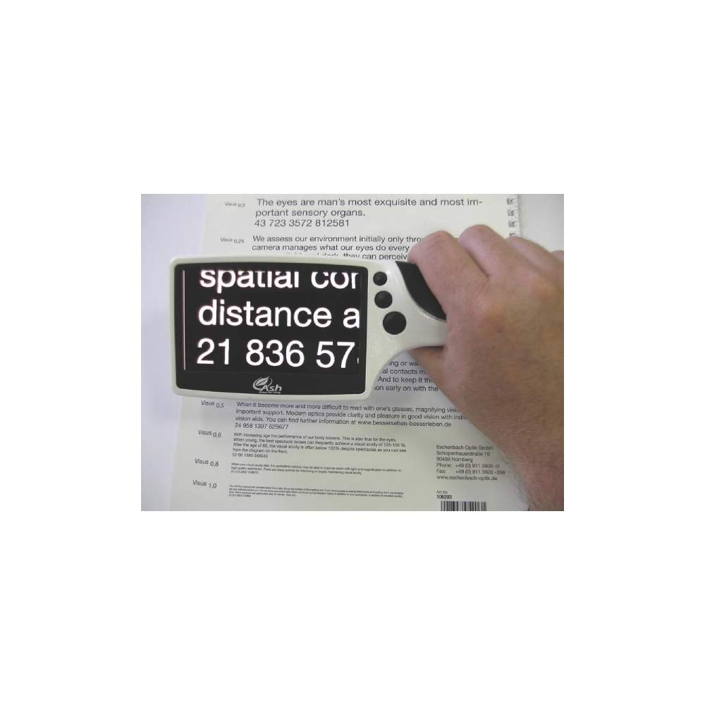 "Crystal XL - digital hand magnifier with AMOLED 4.3 ""display and lens 3Mpx"