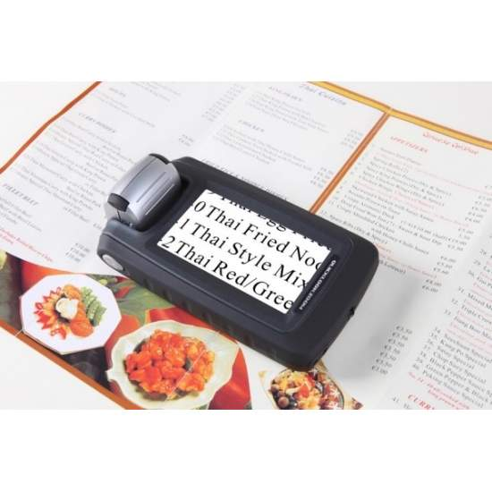 "Quicklook Zoom - digital hand magnifier with 4.3 ""LCD, 18x with long battery life"
