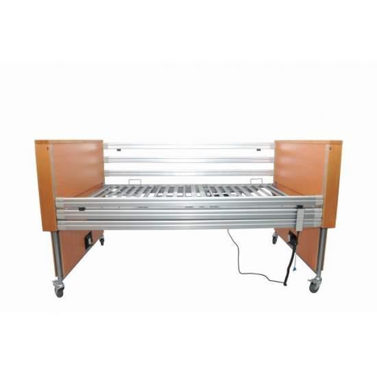 Cama articulada eléctrica 4 planos Geria 300 Especial - Kit desmontable y autoportante compuesto de cama + elevador + cabecero/piecero y barandillas deslizables de aluminio.