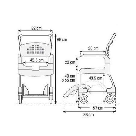 douche propre CHAIR ET WC (49 cm)
