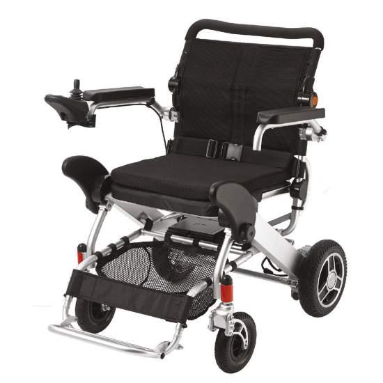 J'Ultraléger chaise Explorateur - Je Explorer est le président de Apex ultralight fauteuil roulant électrique. Idéal pour les petits espaces et Voyage en elle