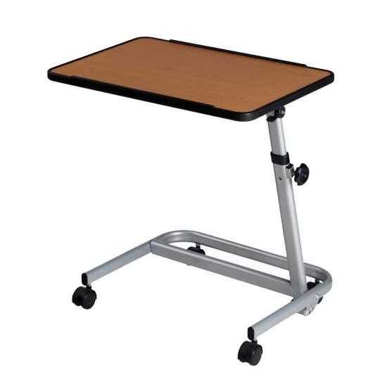 Mesa Auxiliar Plegable - Elegante mesita graduable en altura y plegable. El tablero bascula hasta 90º en ambos sentidos y la mesa se pliega quedando plana para guardarla o transportarla.