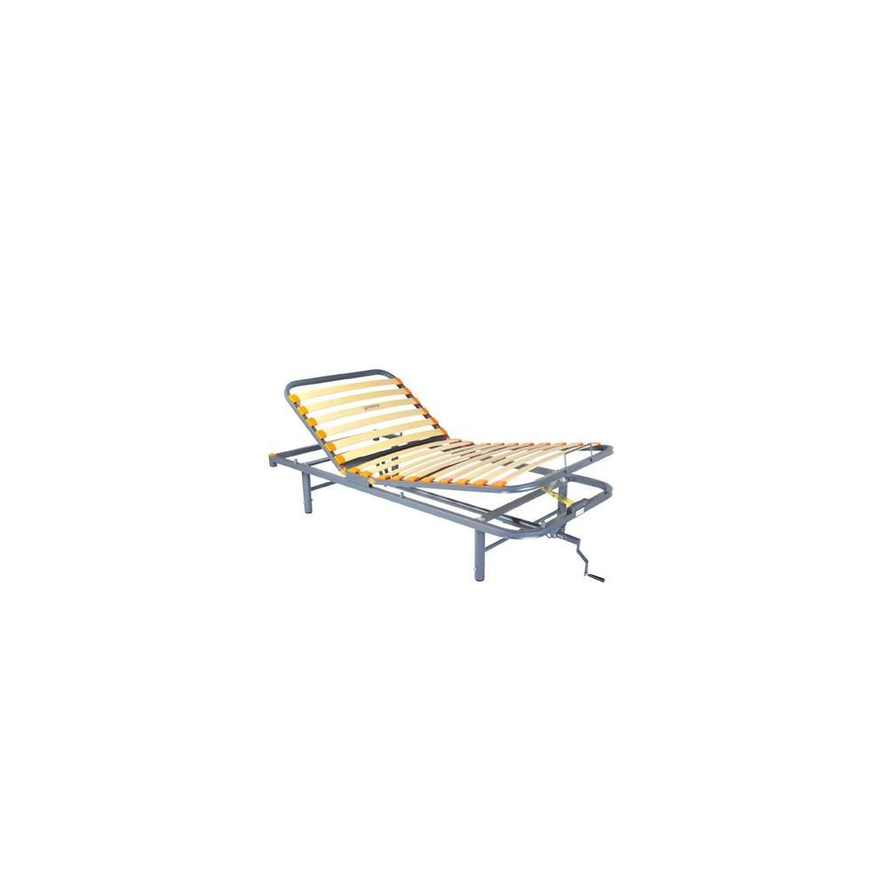 Eixo Geria cama articulada - 3 cama plana manivela articulada, pés reguláveis.