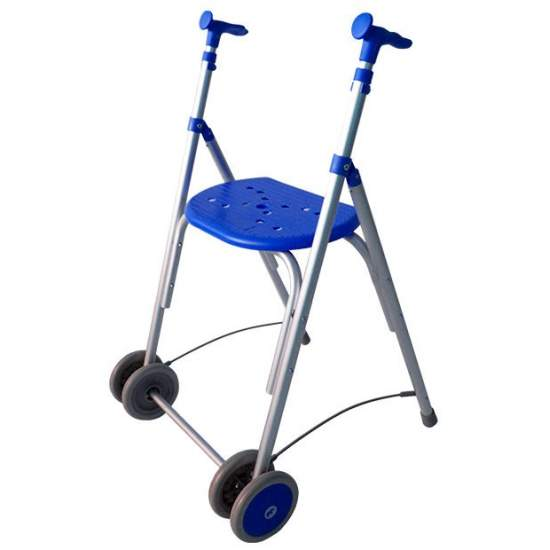 Andador Kamaleon -  The Kamaleón walker Forta is a folding walker, made of aluminum, lightweight, with seat and prepared to place him as both rear wheels fabric basket.