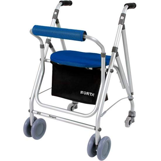 Andador Kanguro -  The Kanguro walker is foldable, includes foam rubber cuffs, padded seat and back ...