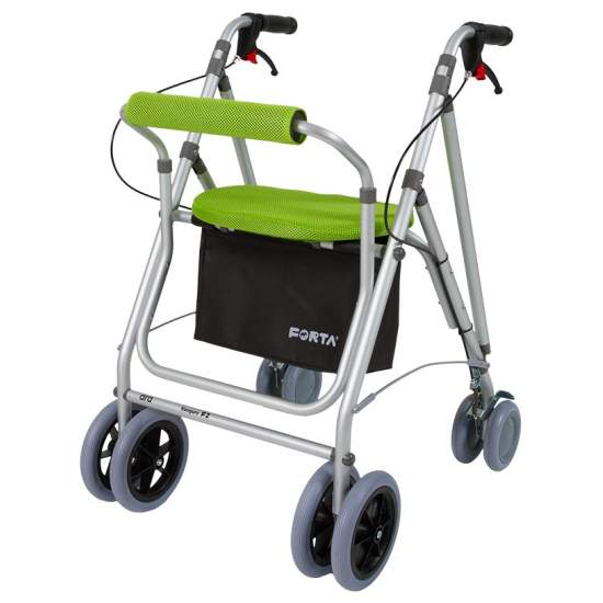 Andador Kanguro F2 -  The walker Kanguro F2 F1 is similar to kanguro but its front wheels are 200 mm, much better to overcome obstacles and uneven ground.
