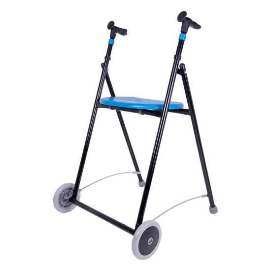 Air Walker con sedile-On -  L'AIR-On Walker è simile al AIR-On zero, ma ha sedile e piatto di plastica. Come la Zero è disponibile in sette colori, pieghevole e ferro.