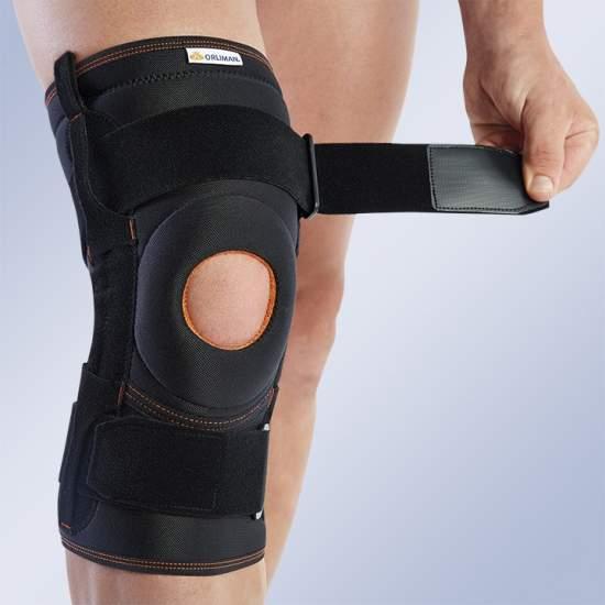 GINOCCHIO CON FLESSIBILE LATERALI RINFORZI 7103/6103 - Realizzata in tessuto traspirante ginocchio elastico brace a tre - strato di materiale.