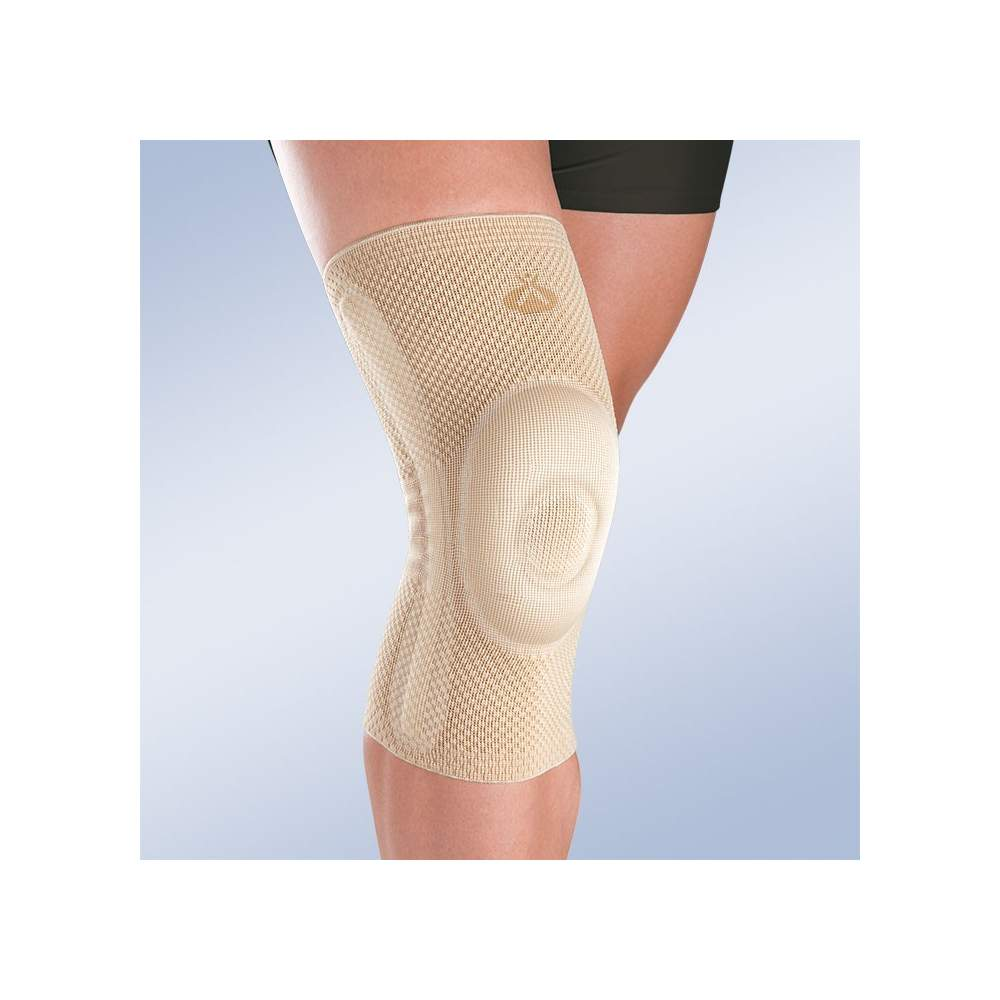 Closed patella knee with lateral stabilizers -  Made in knitting in three dimensions, providing greater cross-elasticity while holding the compression needed in each area.