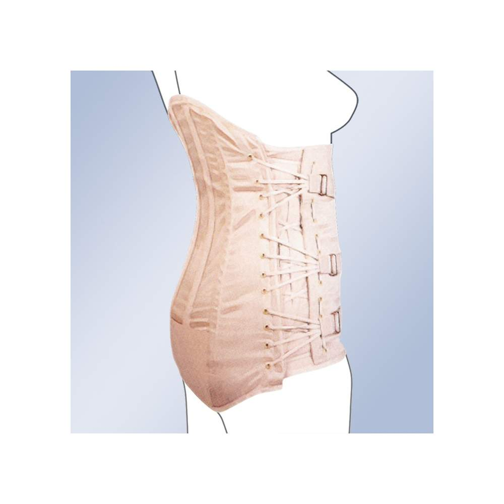 GAZA lumbosacral SEMIRRIGIDA HIGH LADY CORSETERIA 2000-S -  Lumbosacral belt Made of 100% cotton material, straps with buckle closure, plastic whales and lateral Cordonera regulation. Manufacturing standard and customized. Standard...