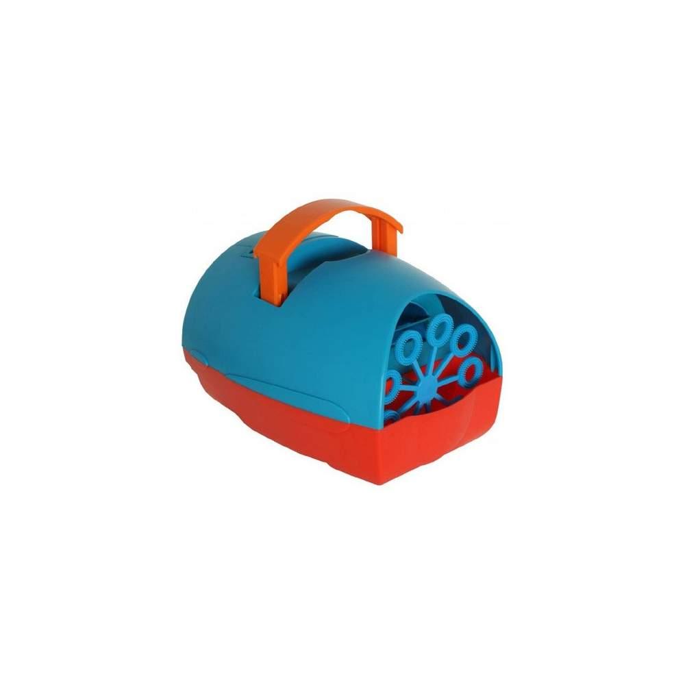 Máquina de burbujas infantil - Compacta y fucional. Funciona a 230V y con pilas.