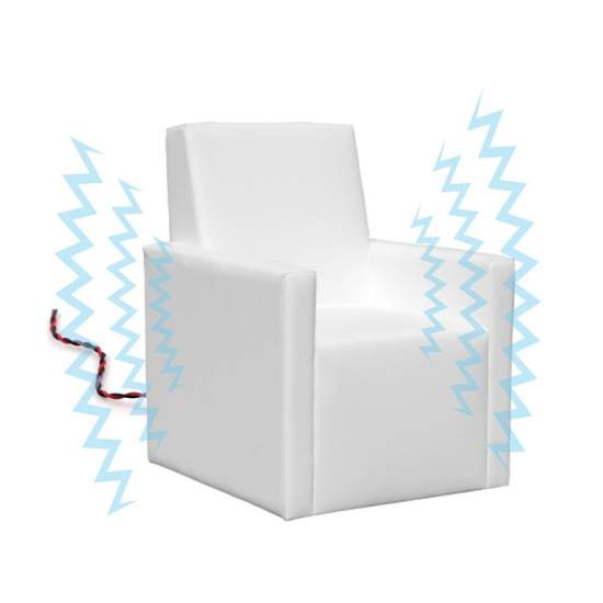 vibroacoustic chair - Armchair with arms proprioception