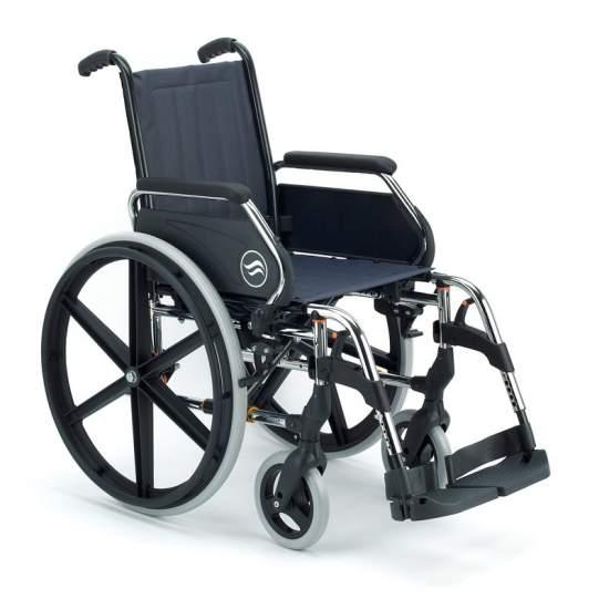 dobrável de aço cadeira de rodas - 250 Breezy - Cadeira de rodas dobrável Breezy 250 autopropulsable grandes rodas  O aço cadeira de rodas com mais modelos e opções. E com o melhor serviço