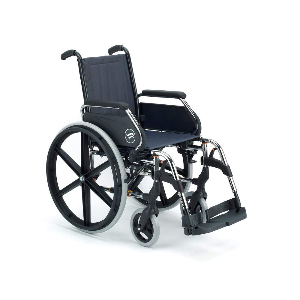 Breezy 250 silla de ruedas de acero plegable ortopedia for Silla de ruedas