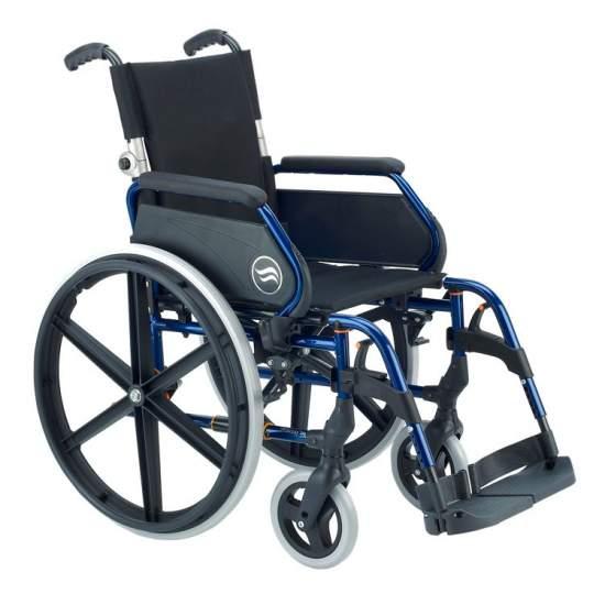 Breezy 250P - acier en fauteuil roulant dossier rabattable parti