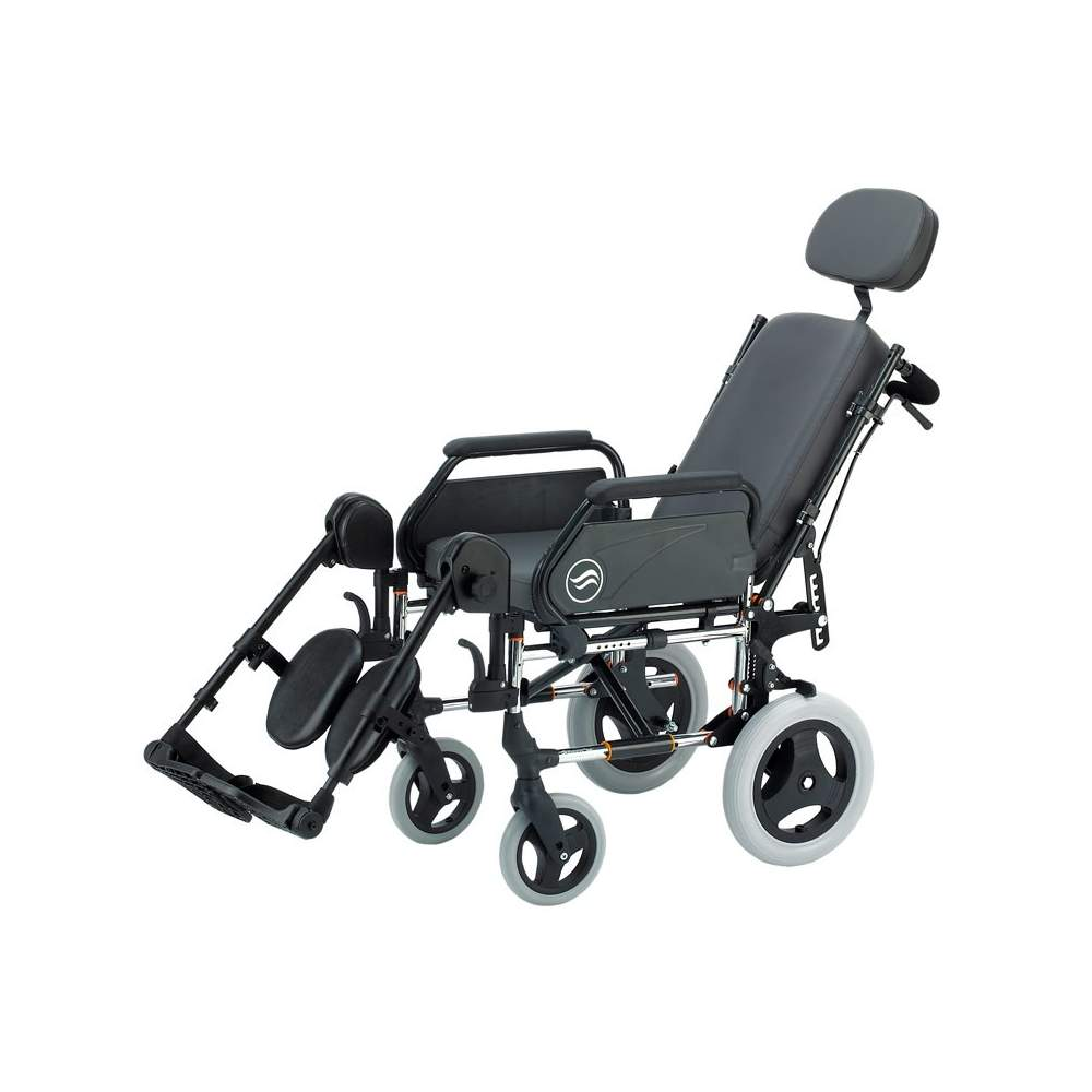 Breezy 250 - Silla de ruedas de acero plegable no autopropulsable