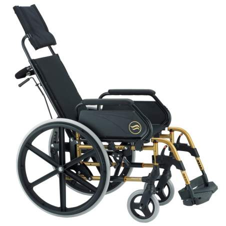 Breezy 250 - Silla de ruedas de acero plegable no autopropulsable