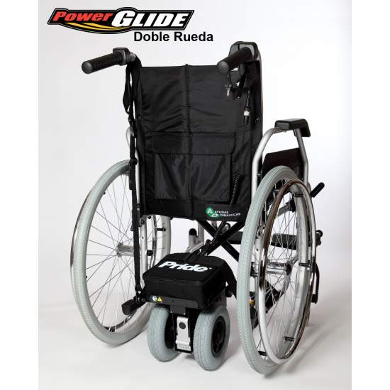 Power Glide, Motor aid attendant -  The new engine Power Glide makes it easier to push a manual wheelchair.