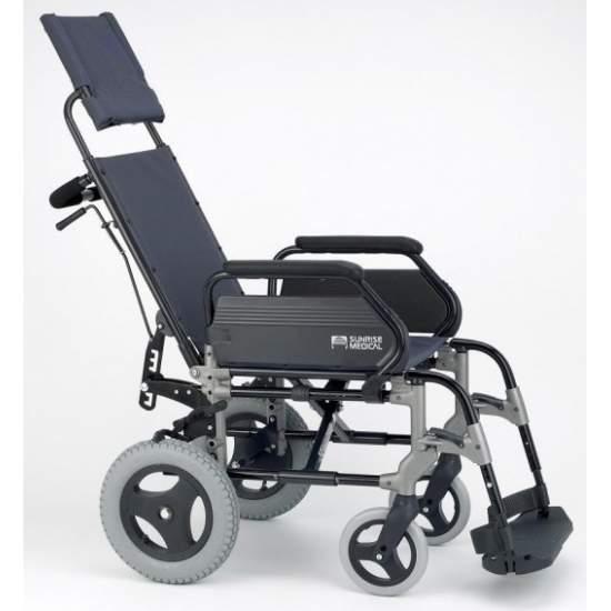 Pliage en fauteuil roulant Breezy 300R petites roues - Brezzy 300R chaise en aluminium dossier inclinable pliage de petites ou de transit des roues pour faciliter le transport  Code 12210015 de rendu
