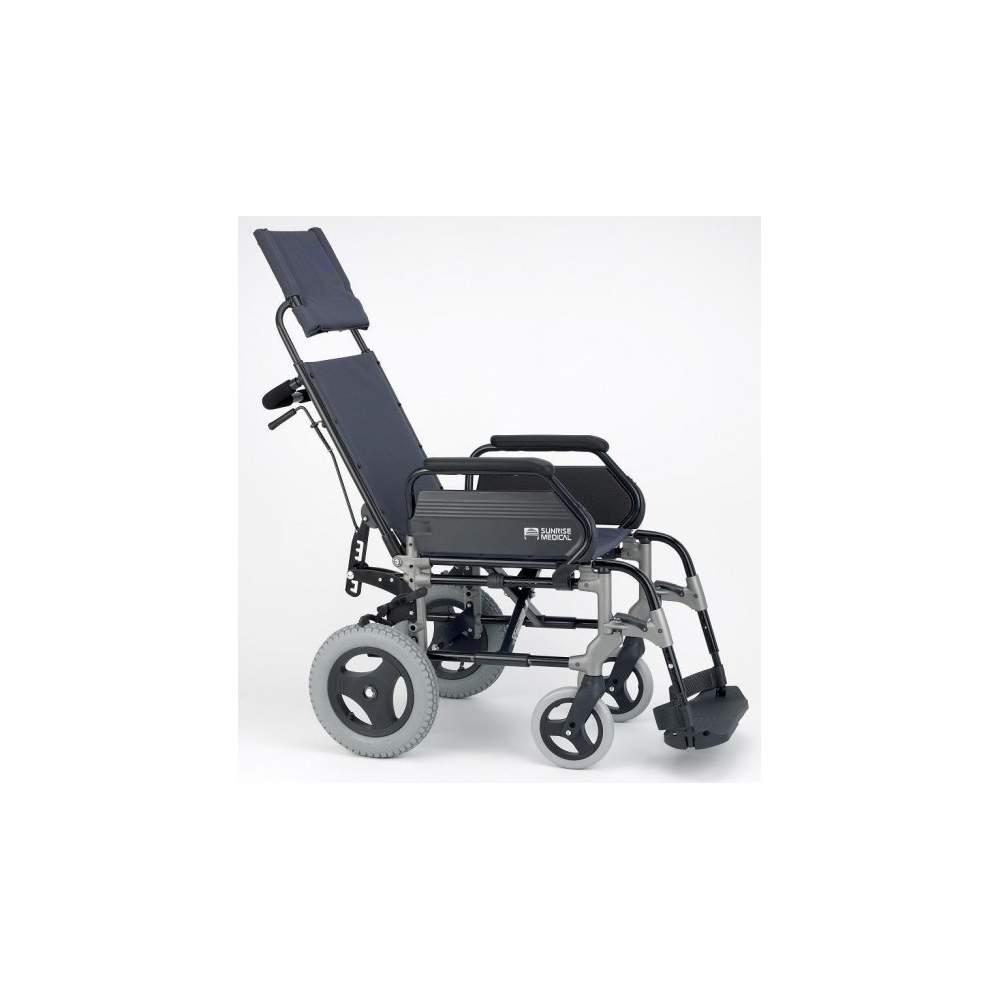 Silla de Ruedas Plegable Breezy 300R Ruedas Pequeñas - Silla de aluminio Brezzy 300R respaldo reclinable ruedas pequeñas o de tránsito plegable para facilitar su transporte
