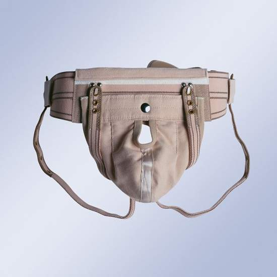 TRUSS suspensory - Truss elastic belt with double straps with back closure under buttocks and scrotal sac interchangeable