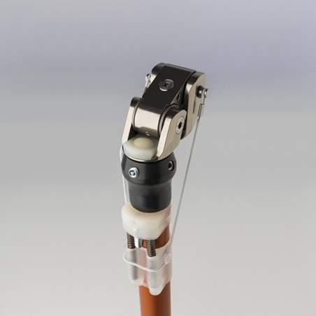 Protesis de rodilla con freno de carga