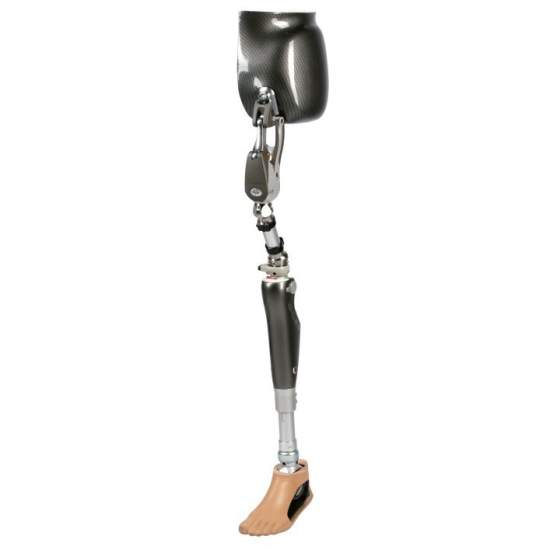 Helix 3D hip joint -  Helix hip prosthesis adapts to walk at different speeds