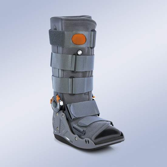 AIR WALKER ARTICULADO - Effects: Immobilization of the tarsal joint tepid including foot, ankle. Control of flexion and extension. Decreasing the load on the heel in the initial phase of ground contact.