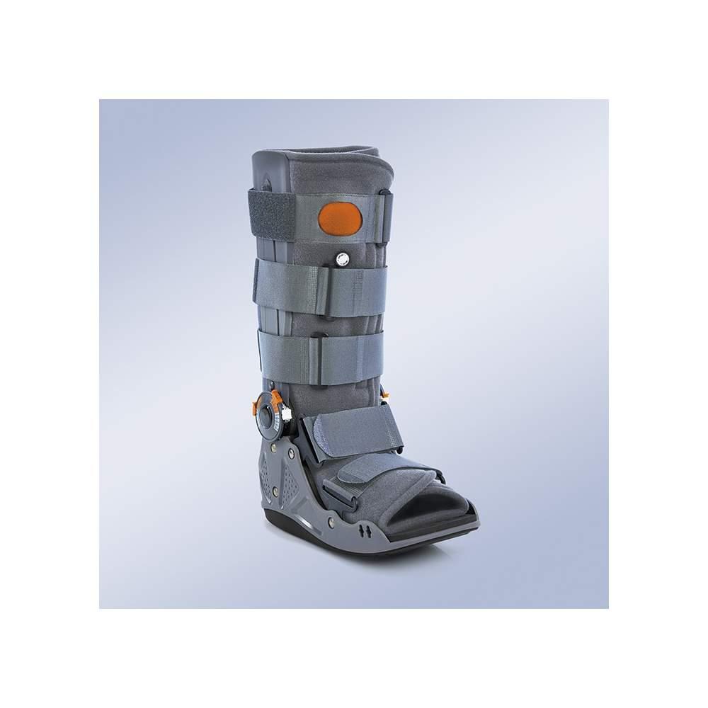 Air Walker Articulado Orliman EST-083 - Efectos: Inmovilización de la articulación tibio- tarsiana incluyendo pie, tobillo. Control de la flexo-extensión. Disminución de la carga impuesta al talón en la fase de...