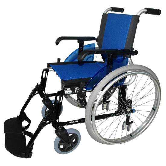 Wheelchair Forta Giro LINE -  The wheelchair Line Giro d'Forta has 4 rear wheels, 600mm normal hand- operated and small 75mm, which may be used in confined spaces, can rotate on its axis perfectly. It is very light and can withstand up to 140 kg user.