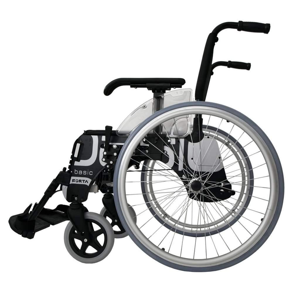 Silla de ruedas BASIC ruedas grandes 600 mm