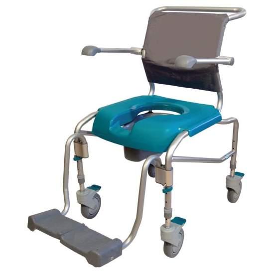 Porte fauteuil d'hygiène -  Chaise de douche avec des roues GATE avec WC.