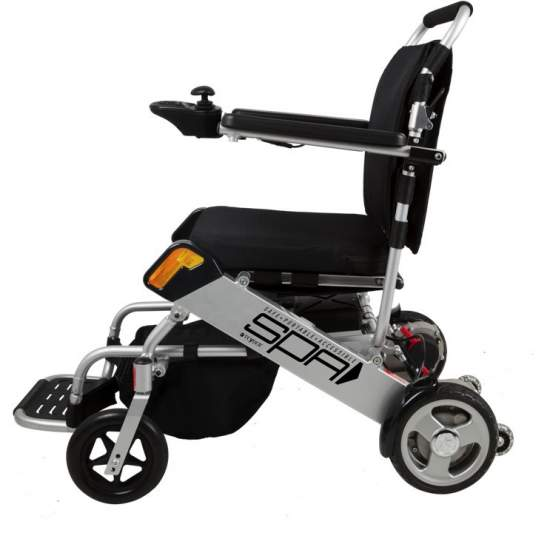 Silla de ruedas Plegable SPA 1461SE - Silla de ruedas eléctrica ultra ligera de aluminio y con baterías de litio