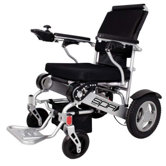 Silla de ruedas Plegable SPA 1463SE 250W - Silla de ruedas eléctrica ultra ligera de aluminio y con baterías de litio