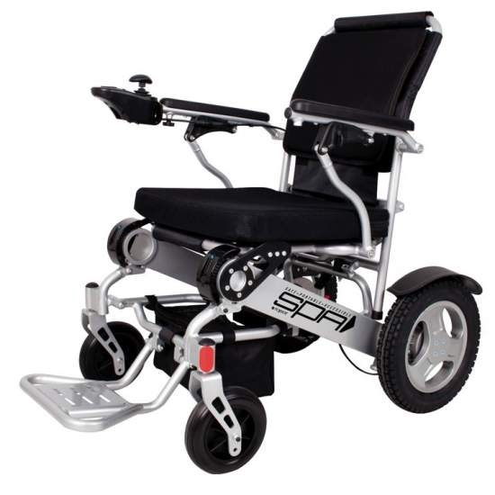 SPA folding wheelchair 141SE 250W - Electric wheelchair ultra lightweight aluminum and lithium batteries