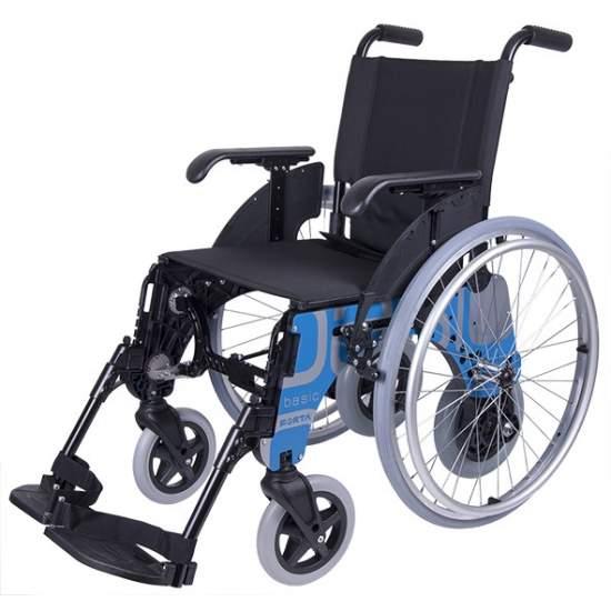 Silla de ruedas BASIC-DÚO de Forta - La silla de ruedas Basic-Dúo de Forta se trata de la silla de 6 ruedas más estrecha del mercado.